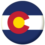 Colorado State Flag 58mm Mirror Keyring
